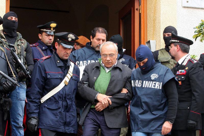 Benedetto Capizzi il giorno del suo arresto