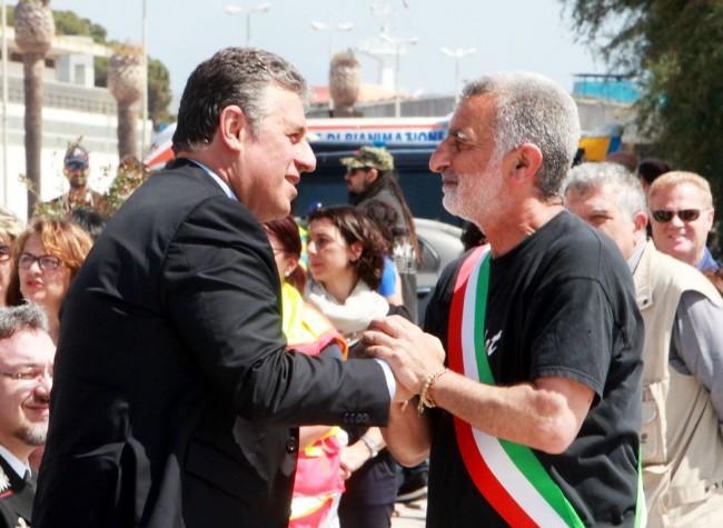 Il pm Nino Di Matteo e il sindaco Renato Accorinti