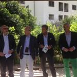 Da sinistra Falzea, Salmeri, Barbera e Randazzo di CapitaleMessina