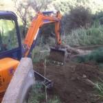 I lavori in corso a Calatabiano