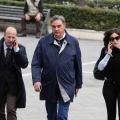 Il capogruppo del Pd, Paolo David, all'ingresso in Tribunale