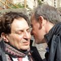 Il saluto alla Real Cittadella tra Rosario Crocetta e Vincenzo Franza (foto di Enrico Di Giacomo)