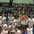 La festa dei giocatori dell'Handball Messina (foto da Facebook)