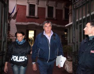 L'arresto di Paolo David (foto di Enrico Di Giacomo)