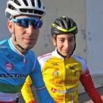 Rosario Costa con Vincenzo Nibali (foto da Facebook)