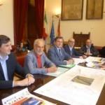 Un momento della conferenza di presentazione, al centro l'assessore alla Protezione Civile, Sebastiano Pino