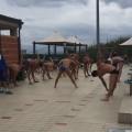 Una fase dell'allenamento degli Azzurri