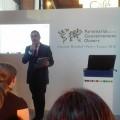 Alessio Caspanello (Parliament Watch Italia) durante il suo intervento