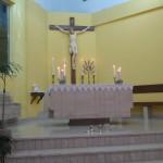 L'altare della chiesa di Camaro San Paolo