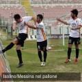 La rabbiosa esultanza di Anastasi dopo il gol vittorio contro il Monopoli (foto G. Isolino per messinanelpallone.it)
