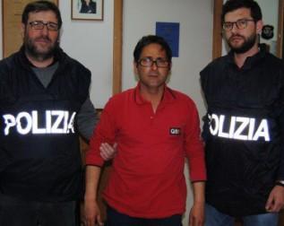 Giuseppe Pecoraro dopo il suo arresto