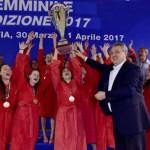 La premiazione delle campionesse del Padova