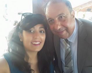 Gemma e suo padre Mauro (foto da Facebook)