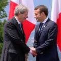 Il premier Gentiloni accoglie il neo presidente francese Macron