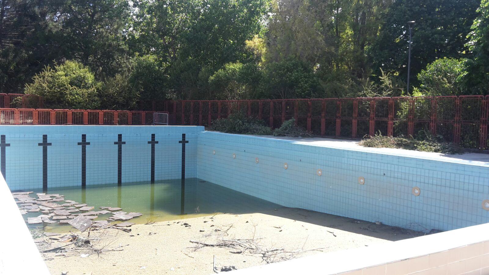 Le condizioni della piscina fino a 45 giorni fa